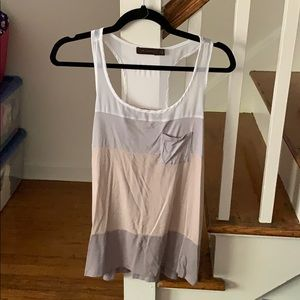 The Limited Neutral Colorblock Racerback Tank Top